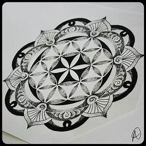 flower of life mandala sacred geometry tattoo | Wicca ...