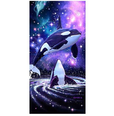 space orca whale beach towel  royce