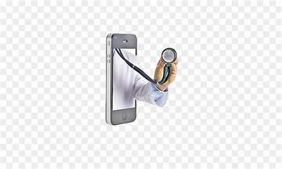 Dokter Gambar Telemedicine Kantor Kesehatan Ponsel Pintar