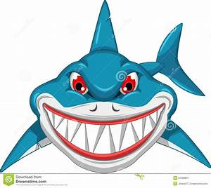 Angry Shark Cartoon Stock Illustration - Image: 51688837