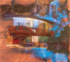 pastel painting demonstration cityscape painting by