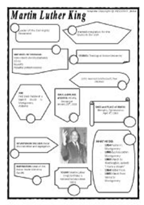 english teaching worksheets martin luther king