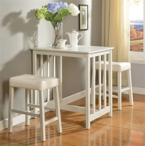 dining table with stools counter height dining breakfast set bar white table stools
