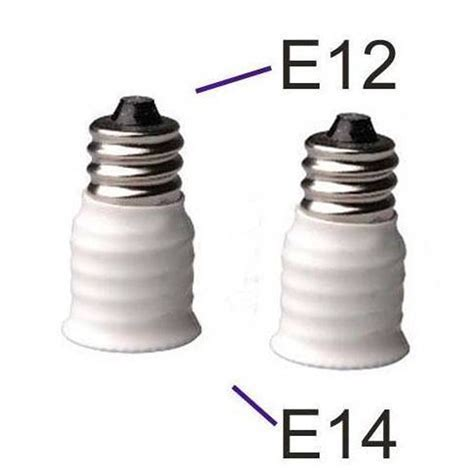 e12 to e14 led l bulbs holder adapter converter