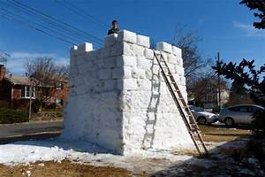 Two-Story Snow Fort Reduced to Rubble | ARLnow.com