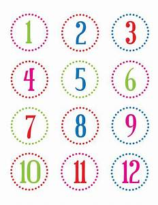 Christina williams countdown to christmas for Free printable number labels