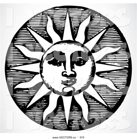 black and white graphic design vector graphic of a black and white retro sun design