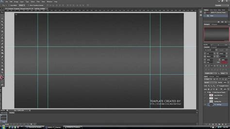youtube channel design banner layout psd template