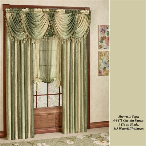 ombre shower curtain ombre semi sheer waterfall valances