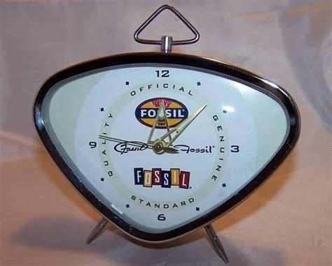 Retro Fossil Key Wound, Red Alarm Clock