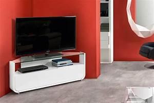 Meuble Angle Tv : meuble d angle tv moderne meuble tele angle design maisonjoffrois ~ Teatrodelosmanantiales.com Idées de Décoration