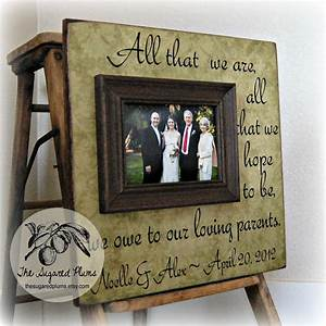 Parents thank you gifts wedding personalized picture frame for Gifts for parents at wedding