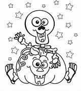 Coloring Pumpkin Print Halloween Pages Printable Scribblefun sketch template