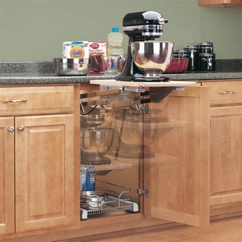 Mixer/Appliance Lift Mechanism without Shelf: Shelves That