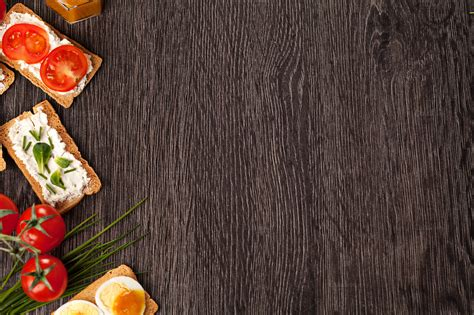food backgrounds tasty canapes food border background food drink photos