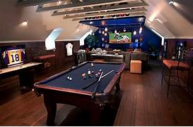 Gaming Room Ideas Expand Your Attic Game Room Into A Luxurious Man Cave