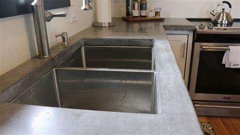 concrete countertop and sink how to make concrete countertops tutorial