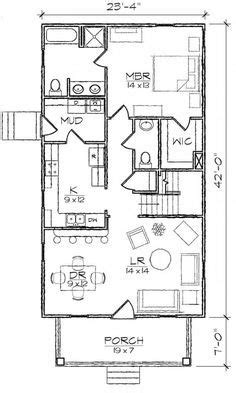 bungalow  bedroom  bath narrow house plan house plans floor plans home plans