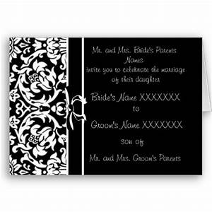 Black And White Cards Wedding Themes Wedding Style Black And White Wedding