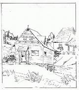 Cabin Coloring Log Pages Woods Clipart Adults Town Printable Drawing Pioneer Template Getdrawings Draw Hut African Sketch Popular Templates Library sketch template