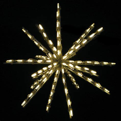 24 inch warm white one color led starburst 100 bulbs
