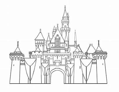 Castle Disney Pages Sleeping Beauty Disneyland Colouring