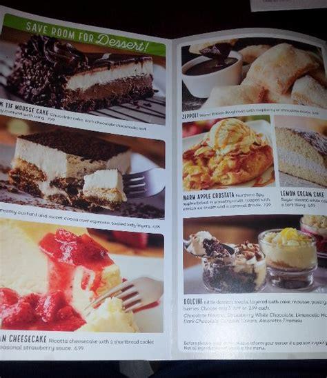 olive garden dessert menu olive garden lincolnwood menu prices restaurant