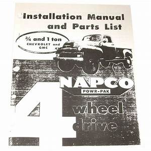 1956 1957 1958 1959 Napco Installation Manual  U0026 Parts List