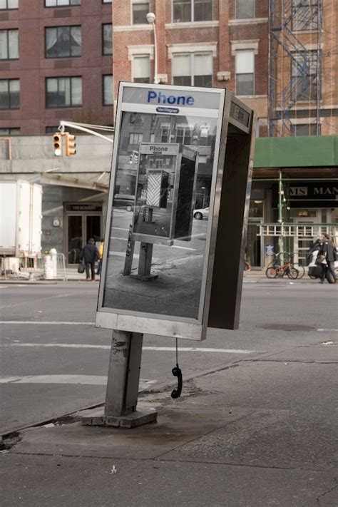 inception style phone booth art  nyc