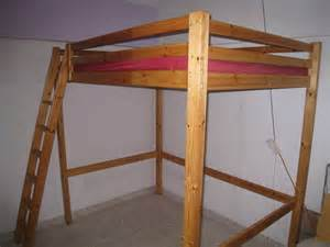 ikea stora queen sized solid pine loft bed for sale in