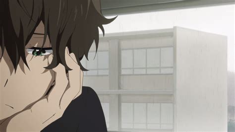 Green Eyes Face Hyouka Oreki Houtarou Anime Boys