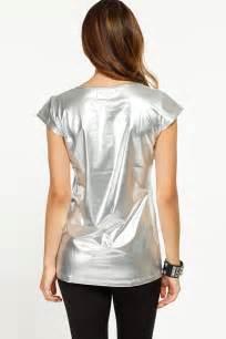 metallic tiger silver top cicihot top shirt clothing
