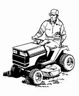 Mower Lawn Coloring Pages Farm Riding Tractor Mowing Repair Equipment Drawing Clipart Clip Mowers Cartoon Service Tractors Cliparts Farmer Colouring sketch template