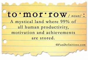 Tomorrow Is Fri... Tomorrow Funny Quotes