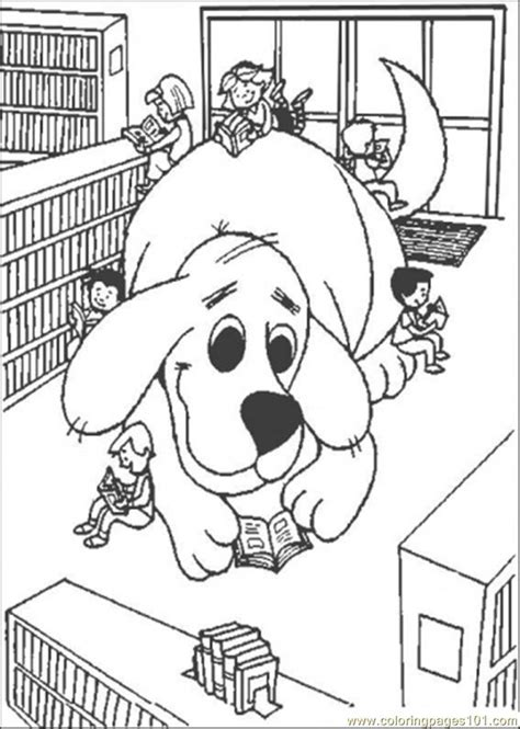 giant clifford coloring page  clifford  big red