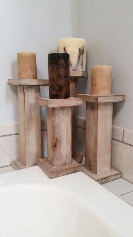 wood candle holders pillars    posts
