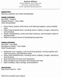 hotel housekeeper resume the resume template site With free housekeeping resume