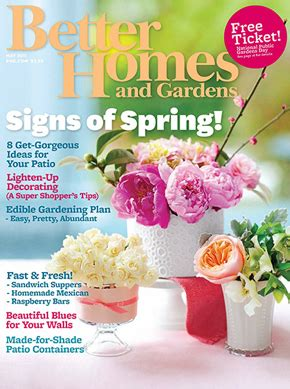 free 1 year subscription to better homes and gardens