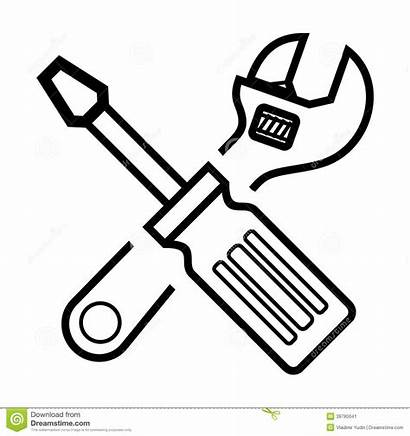 Wrench Screwdriver Clipart Screw Vector Hammer Tools