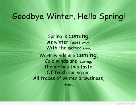 goodbye winter  spring quote