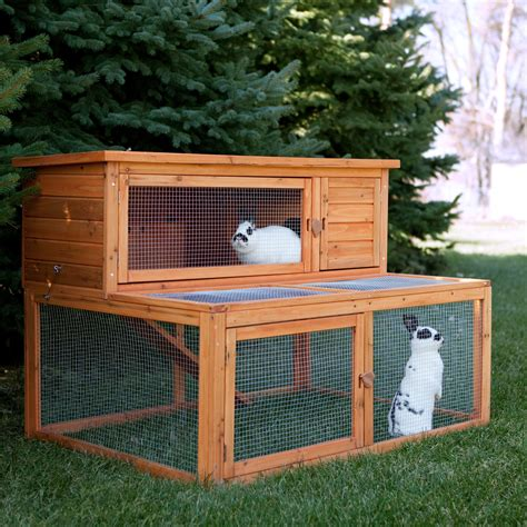 a rabbit hutch boomer george deluxe rabbit house rabbit cages