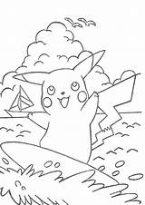 Pikachu Coloring Pages Printable Pokemon Surfing Print Misty Colouring Adult Clipart Bestcoloringpagesforkids Books Go Sheets Coloringpages Library Meme Anime Popular sketch template