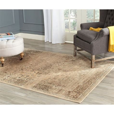 safavieh viscose rug safavieh vintage warm beige distressed silky