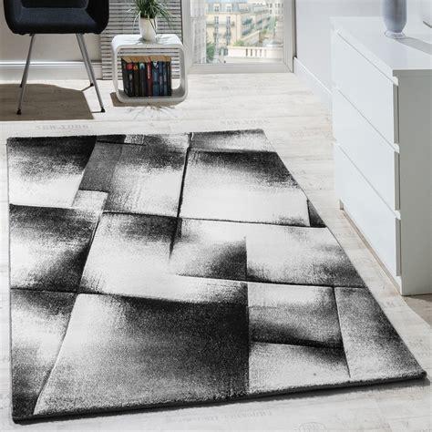 teppich schwarz grau designer teppich modern wohnzimmer teppiche kurzflor meliert grau creme schwarz wohn und