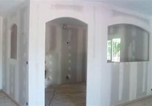 Cloison Séparation Pièce : monter une cloison simple pose d une cloison placo ba 13 ~ Premium-room.com Idées de Décoration