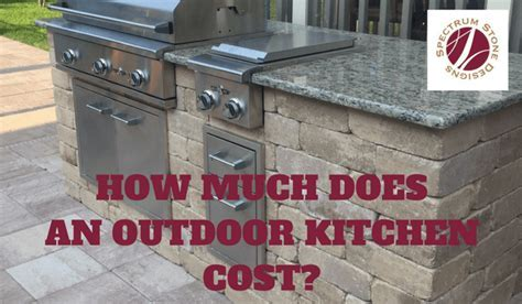 How Much Does an Outdoor Kitchen Cost?   Spectrum Stone