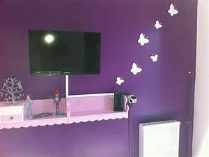 chambre style papillon photo 5 7 sa 1 er tele With chambre mauve et blanc
