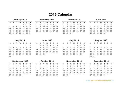 Free Calendar Template For 2015 Costumepartyrun