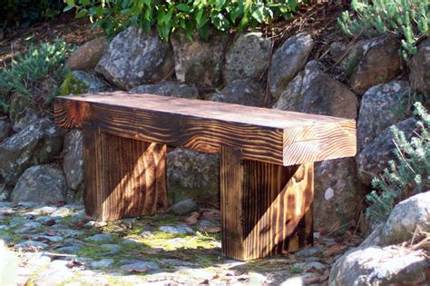 Zen Bench by Zen Bench Small Rustic Furniture San Francisco