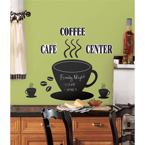 kitchen curtains coffee cup design large coffee kitchen wall quote stickers cafe vinyl 7908